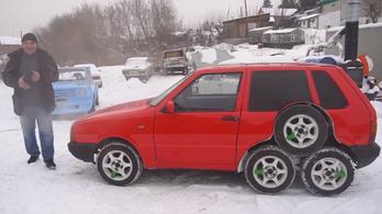 A Fiat Uno, aminek volt már 8 kereke, és 9 kipufogódobja is