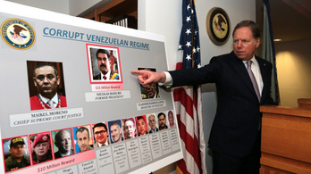 Kábítószer-terrorizmus miatt emel vádat Amerika Nicolás Maduro venezuelai elnök ellen