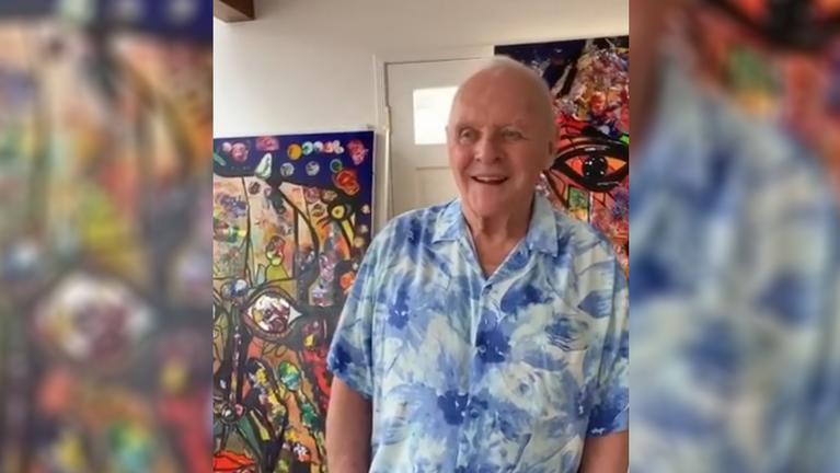 Anthony Hopkins az önkéntes karanténban felcsapott festőművésznek