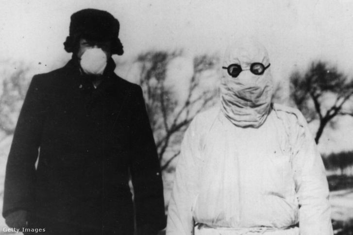 Orvosok 1912-ben a mandzsúriai pestis idején