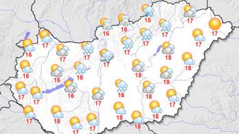 Szombaton egy hidegcsepp miatt több felhő lesz, de tavaszias marad az idő