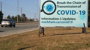 Kanadában a vírus miatt kórházba kerülők 12 százaléka 40 év alatti