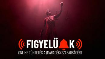 Online tüntettek a koronavírus-törvény ellen