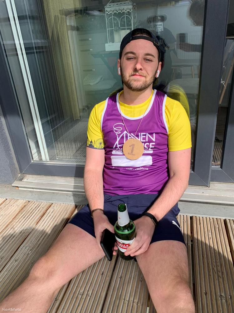 Íme, a jól megérdemelt pihenő a futás után