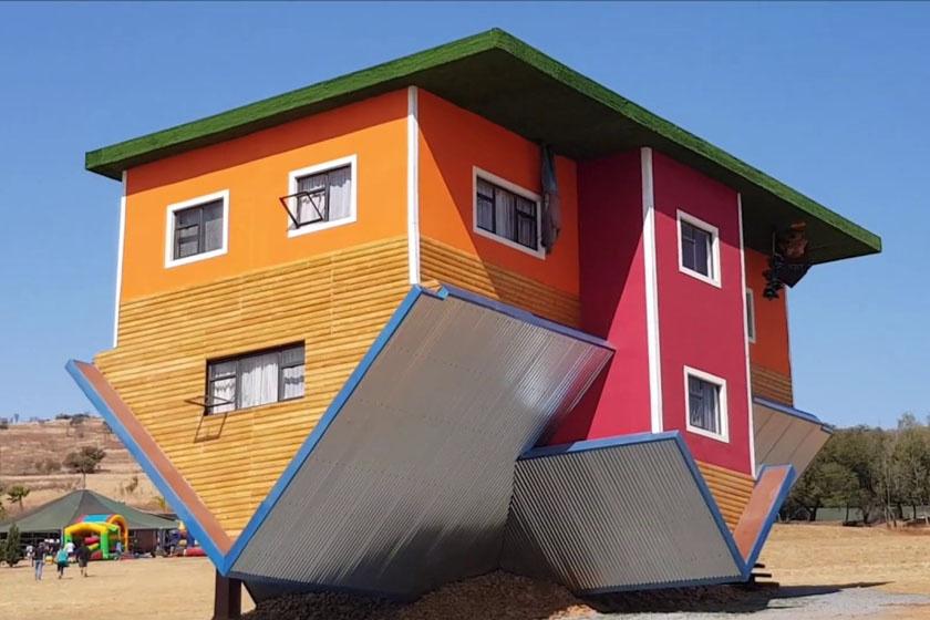 Fordított ház Dél-Afrikában: ilyen épületeket világszerte találni.
