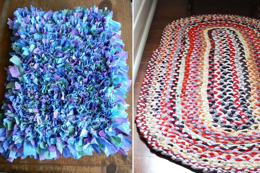 Régi, kinyúlt pólókból csodaszép szőnyeg: így készíts otthon mutatós darabokat