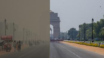 Látványosan csökkent az indiai szmog a járványnak köszönhetően