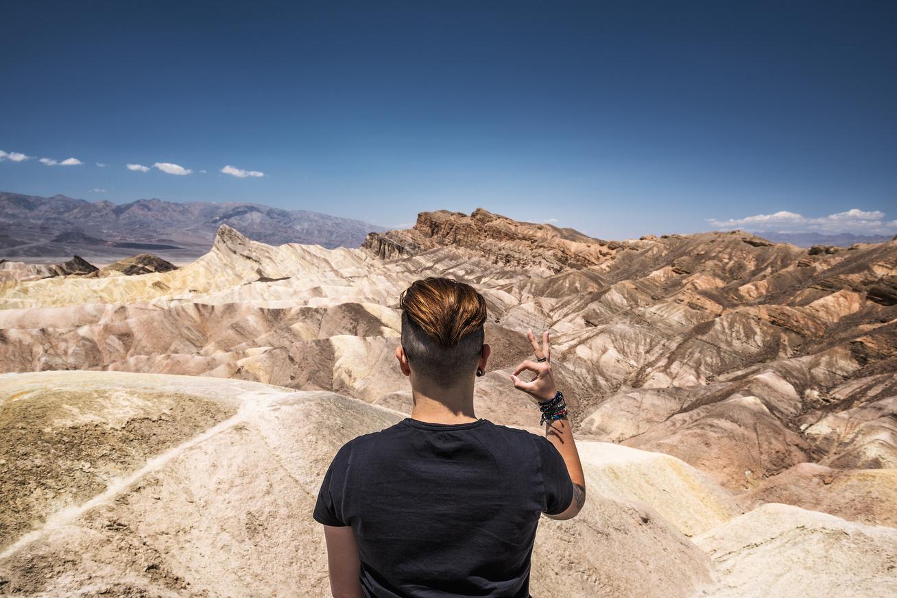 death valley nemzeti park turista