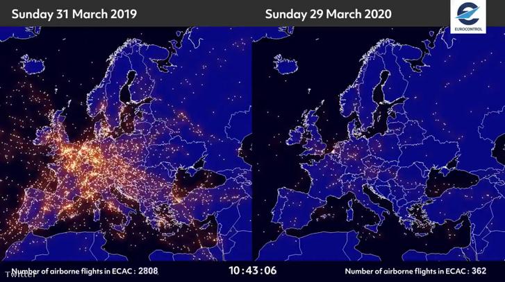 2020-03-31 13 06 59-Index - Mindeközben - Eltűntek a repülők Eur