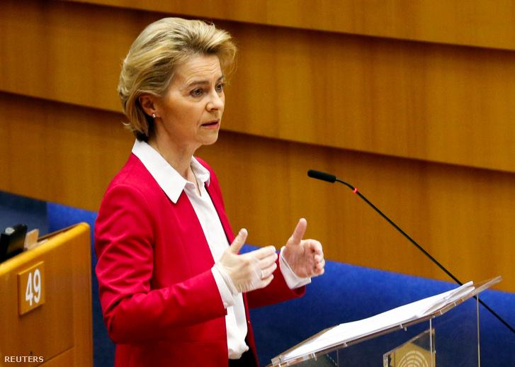 Ursula von der Leyen az Európai Parlamentben 2020 március 26-án
