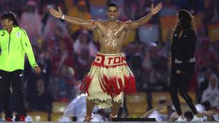 Emlékszik még az olajos testű tongai zászlóvivőre? Most együtt lehet vele edzeni a NOB Instáján
