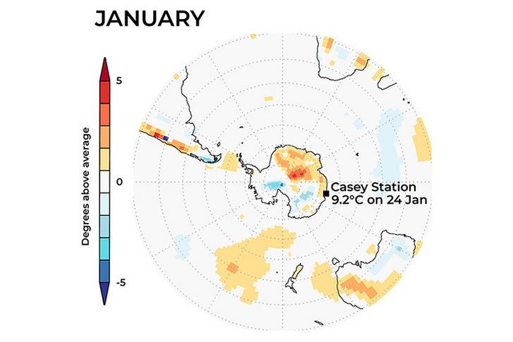 Rekodrmeleg az Antarktiszon