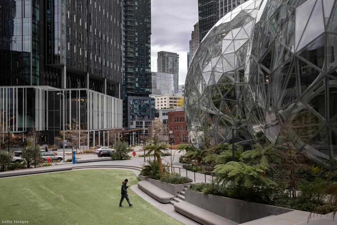 Az Amazon üres seattle-i központja 2020 március 10-én
