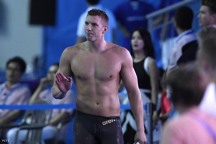Kozma Dominik a 18. vizes világbajnokságon a dél-koreai Kvangdzsuban 2019. július 23-án.