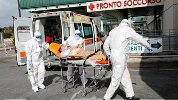 Továbbra is magas az olasz halottak száma, 837-en haltak meg kedden