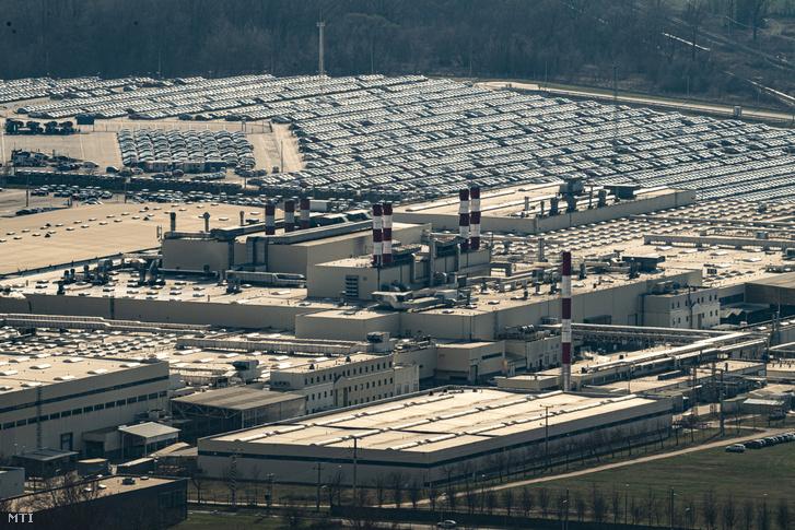 Az esztergomi Suzuki-gyár 2020. március 18-án.