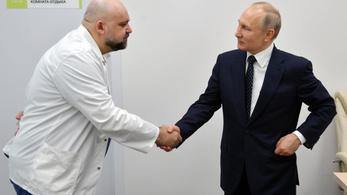 Koronavírusos az orvos, aki múlt héten Putyinnal találkozott