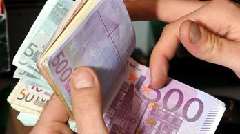 Új negatív rekord: 369 forint fölé ment az euró árfolyama