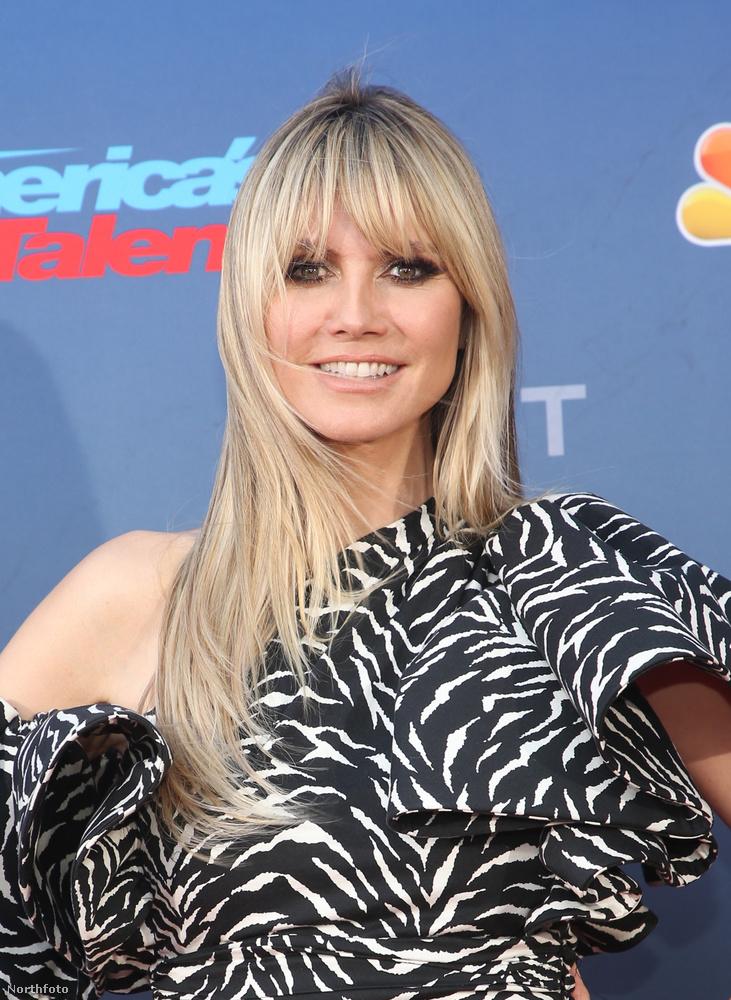 Heidi Klum az America's Got Talent felvételén,
