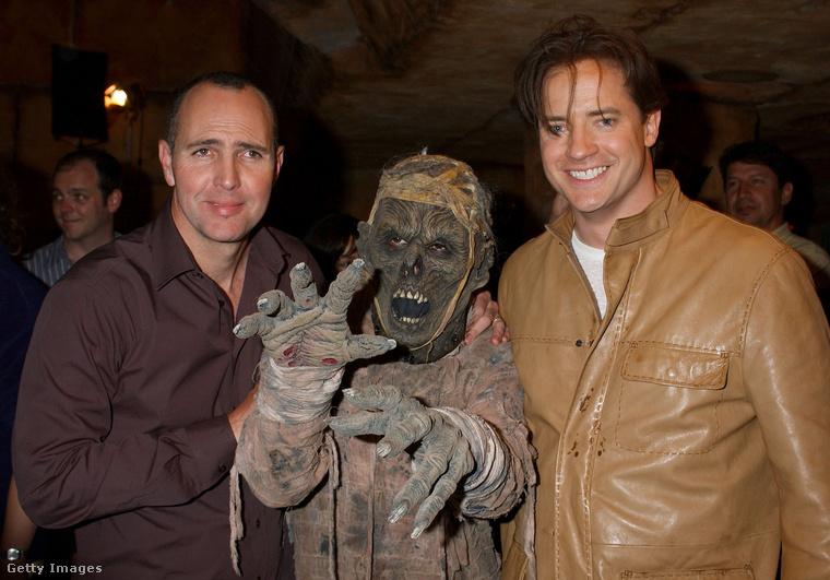 Itt a 2001-es A múmia visszatér promotálása közben láthatja