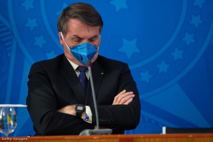 Jair Bolsonaro a koronavírus kitöréséről tartott sajtótájékoztatón 2020. március 20-án