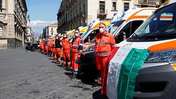 Olaszországban az előző napokhoz képest csökkent az áldozatok száma, de több új fertőzött van