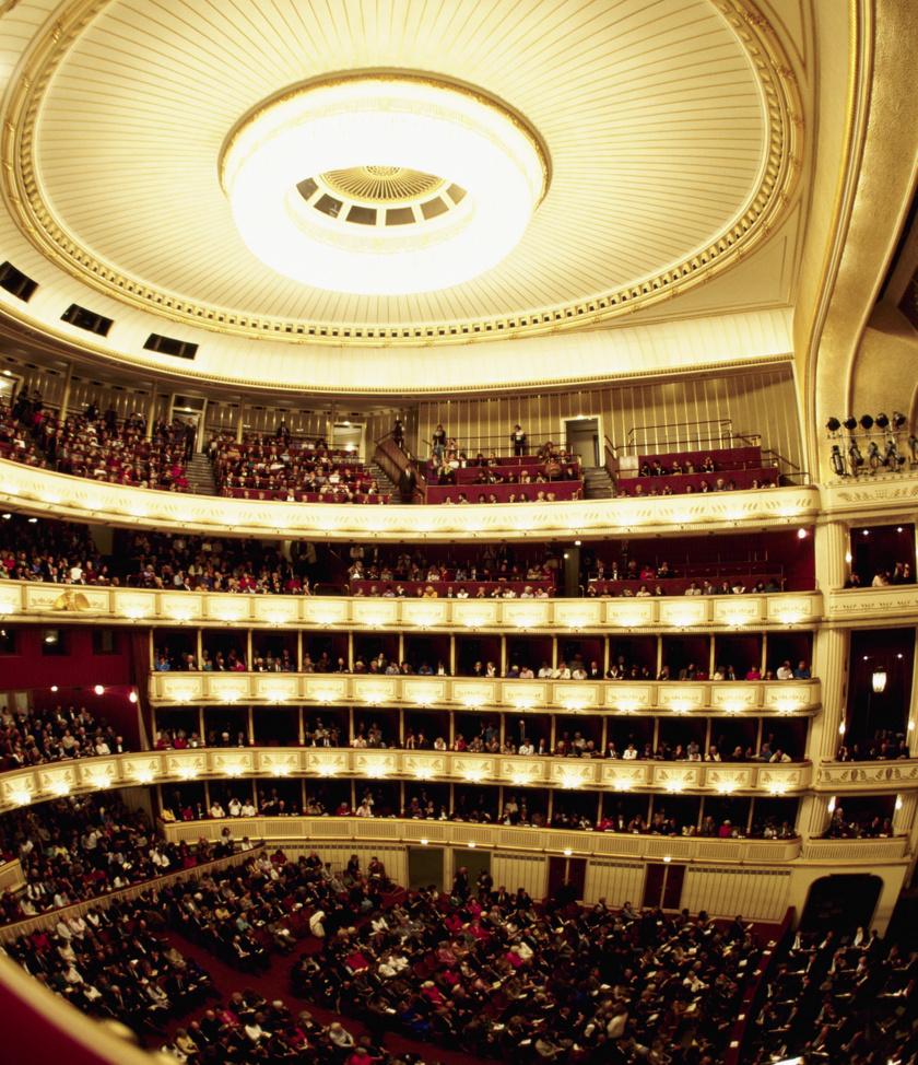 A Bécsi Állami Operaház nézőtere.