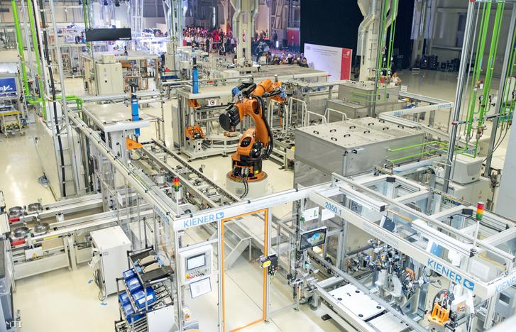 Az Audi Hungaria Zrt. új elektromos motorokat gyártó győri üzemcsarnoka