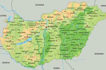 magyarország földrajz domborzati térkép