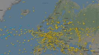 5 ezer járat repül naponta Európa felett a tavalyi 31 ezer helyett