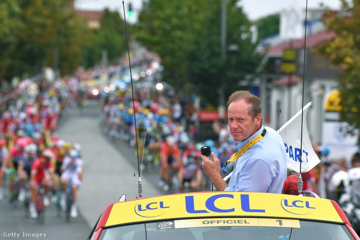 Christian Prudhomme a 2018-as Tour de France közben