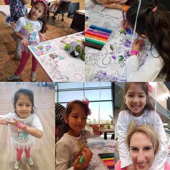 A hatéves Katinka igazi kis művészlélek, a zene mellett a rajzoláshoz és a színezéshez is van érzéke.