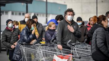 A boltok forgalmát már februárban nagyon megtolta a felvásárlási láz