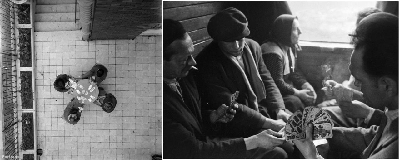 Kártyázók a szakszervezeti üdülőben, 1968.; Kártyázók a vonaton, 1965.