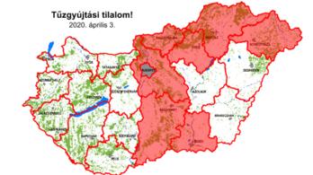 Tűzgyújtási tilalom lépett életbe hét megyében, köztük Pest megyében is