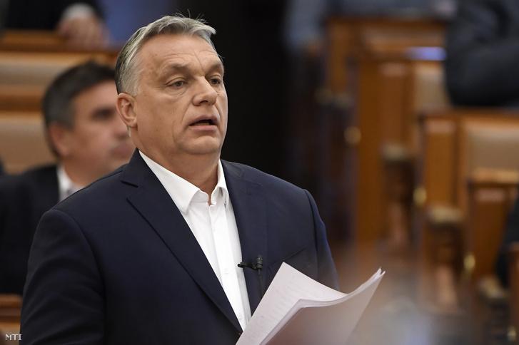Orbán Viktor az Országgyűlés plenáris ülésén 2020. március 23-án
