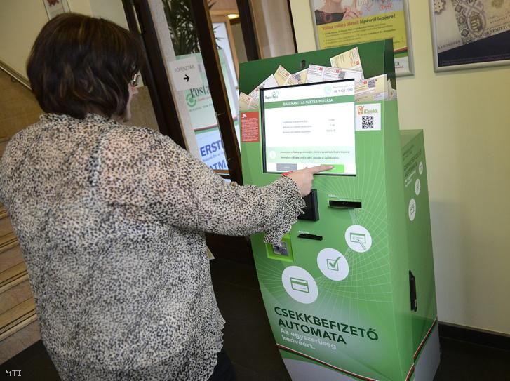 Csekkbefizető automata