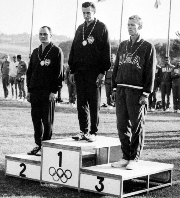 Az öttusa egyéni verseny győztesei az 1960-as római olimpián: Németh Ferenc olimpiai bajnok Nagy Imre második helyezett és az amerikai Beck a harmadik helyezett.