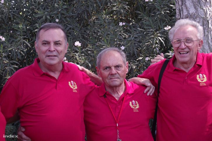 Balczó balra, Németh jobbra a 60-as olimpia helyszínén ötven évvel később