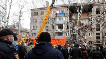Gázrobbanás volt egy orosz lakótelepen