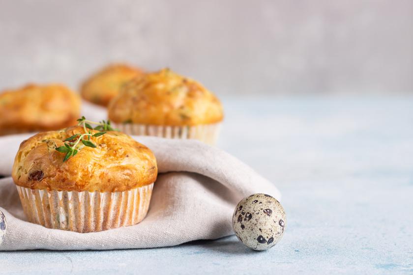 30 perces sonkás, tojásos muffin: legalább olyan jó, mint a pogácsa