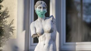 Európa-szerte maszkosítják a köztéri szobrokat