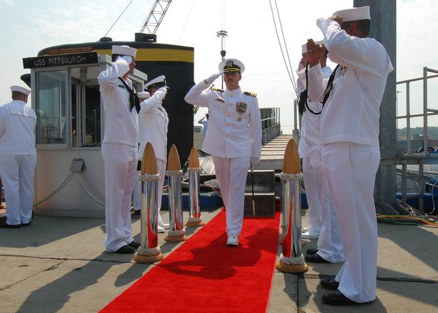 Michael P. Ward II pittsburghi parancsnoki kinevezésekor