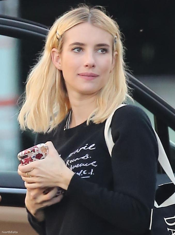 Tessék, Emma Roberts, szájmaszk nélkül!