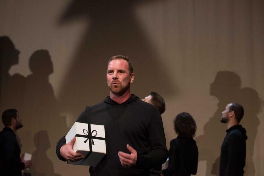 Az életét feldolgozó, az AlkalMáté Trupp Gál Kristóf című darabjának próbáján a budapesti Jurányi inkubátorházban 2014-ben
