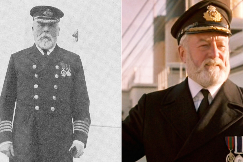 A 62 éves Edward John Smith kapitány jutalomútja lett volna a Titanic, ugyanis korábban bejelentette a nyugdíjba vonulását. Egy matróz látta őt utoljára, ahogy az üres híd felé tart, holttestét soha nem találták meg. A filmben Bernard Hill játszotta a kapitányt.