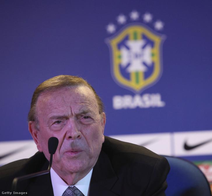 Ricardo Teixeira, a Brazil Labdarúgó-szövetség volt elnöke 2012. március 12-én Rio de Janeiróban.