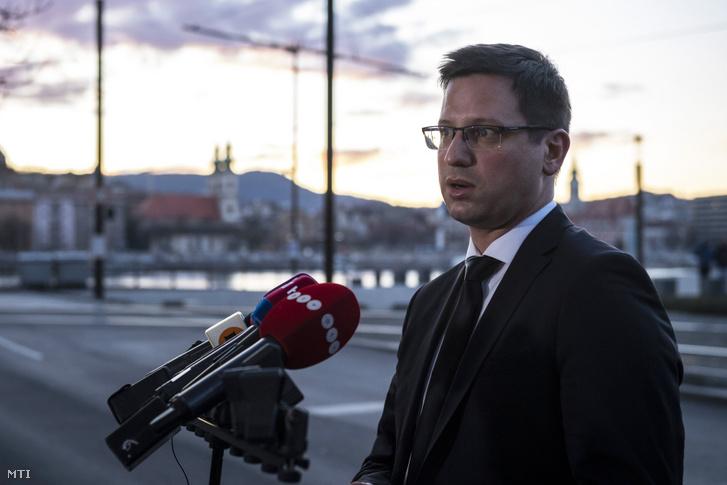 Gulyás Gergely Miniszterelnökséget vezető miniszter