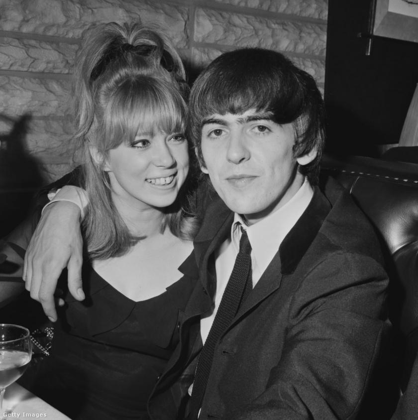 George Harrison és első felesége, Pattie Boyd.