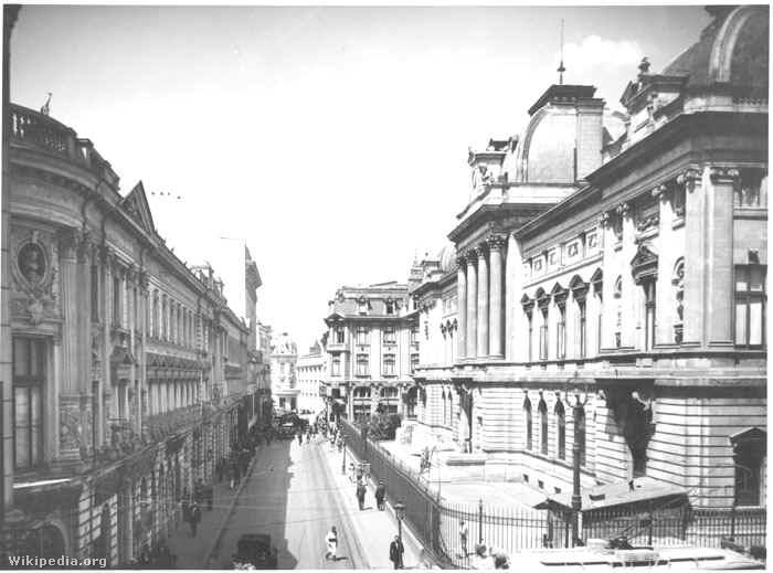A Román Nemzeti Bank székháza az 1920-as években